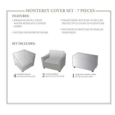 Monterey Winter 7 Piece Cover Set