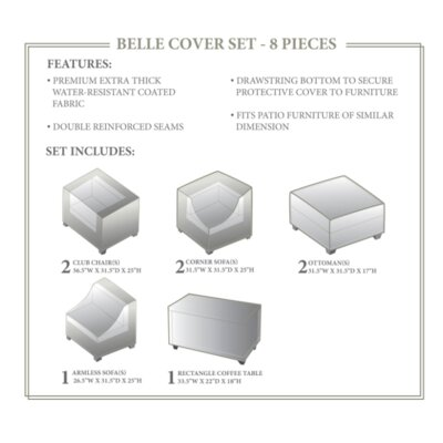 Belle Winter 8 Piece Cover Set