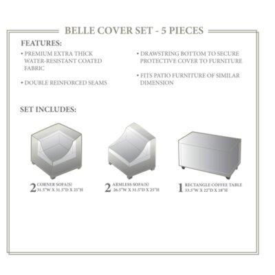 Belle Winter 5 Piece Cover Set