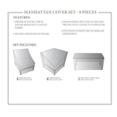 Manhattan Winter 9 Piece Cover Set