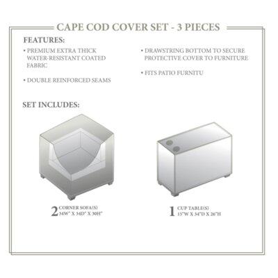 Cape Cod Winter 3 Piece Cover Set