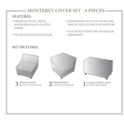 Monterey Winter 6 Piece Cover Set