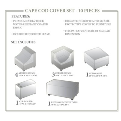 Cape Cod  Winter 10 Piece Cover Set