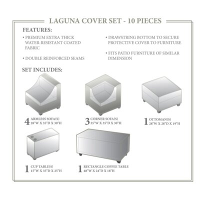 Laguna Winter 10 Piece Cover Set