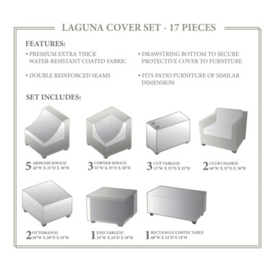 Laguna Winter 17 Piece Cover Set