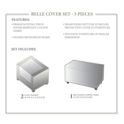 Belle Winter 3 Piece Cover Set