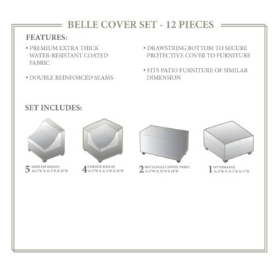 Belle Winter 12 Piece Cover Set