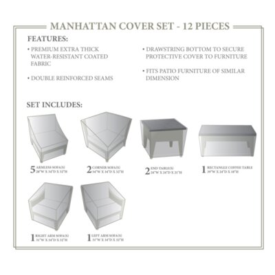 Manhattan Winter 12 Piece Cover Set