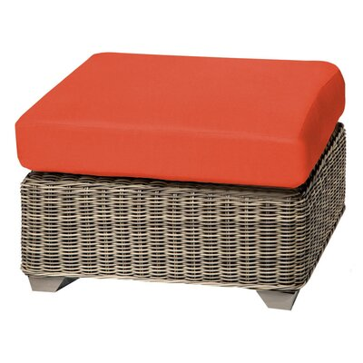 Cape Cod Ottoman with Cushion Fabric: Tangerine