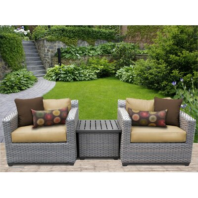 Florence 3 Piece Lounge Seating Group with Cushion Fabric: Sesame