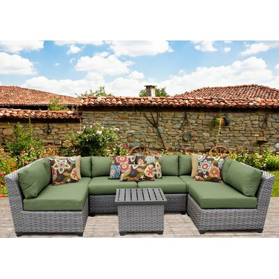Florence 7 Piece Sectional Seating Group with Cushion Fabric: Cilantro
