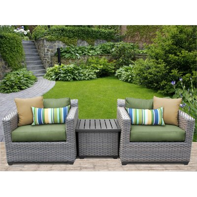 Florence 3 Piece Lounge Seating Group with Cushion Fabric: Cilantro