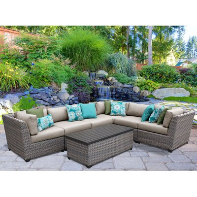 Florence 7 Piece Sectional Seating Group with Cushion Fabric: Beige