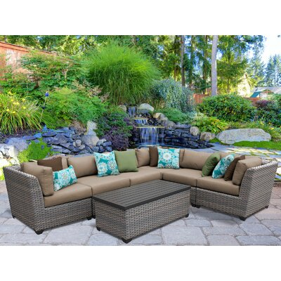 Florence 7 Piece Sectional Seating Group with Cushion Fabric: Wheat