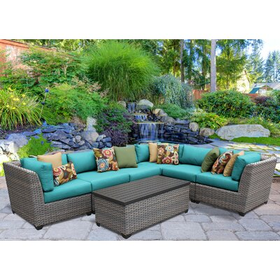 Florence 7 Piece Sectional Seating Group with Cushion Fabric: Aruba