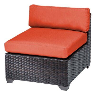 Belle Slipper Chair and Ottoman Fabric: Tangerine