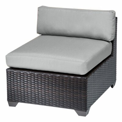 Belle Slipper Chair and Ottoman Fabric: Grey