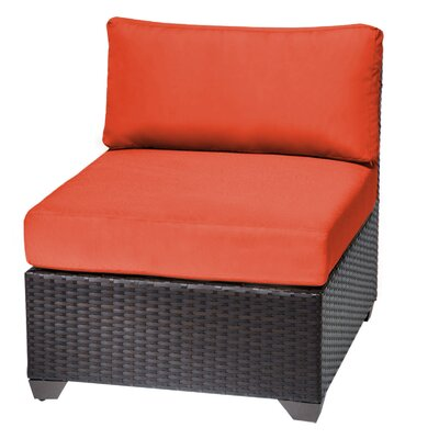 Barbados Slipper Chair Fabric: Tangerine