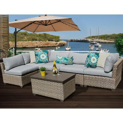Monterey 6 Piece Sectional Seating Group with Cushion