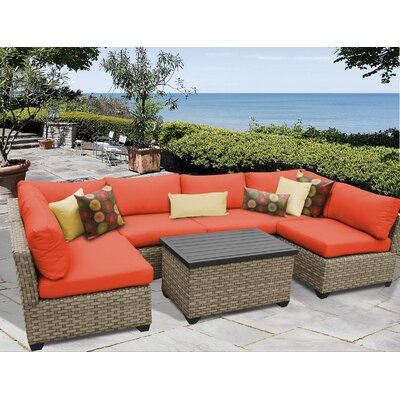 Monterey 7 Piece Sectional Seating Group with Cushion