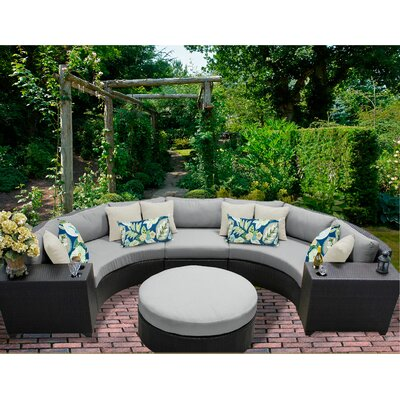 Barbados 6 Piece Sectional Seating Group with Cushion Fabric: Grey