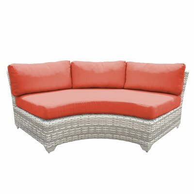 Fairmont Sofa with Cushions Fabric: Tangerine