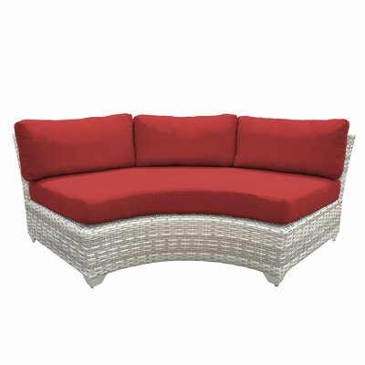 Fairmont Sofa with Cushions Fabric: Terracotta