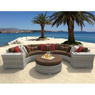 Fairmont 6 Piece Sectional Seating Group with Cushion Fabric: Cocoa