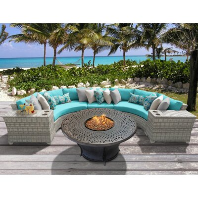 Fairmont 6 Piece Fire Pit Seating Group with Cushion Fabric: Aruba