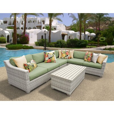 Fairmont 7 Piece Sectional Seating Group with Cushion Fabric: Cilantro