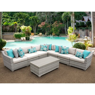 Fairmont 8 Piece Sectional Seating Group with Cushion Fabric: Beige