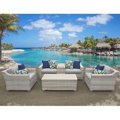 Fairmont 6 Piece Deep Seating Group with Cushion Fabric: Gray