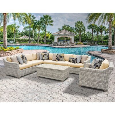 Fairmont 8 Piece Sectional Seating Group with Cushion Fabric: Sesame