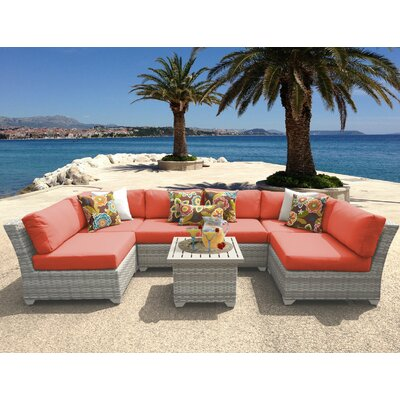 Fairmont 7 Piece Sectional Seating Group with Cushion