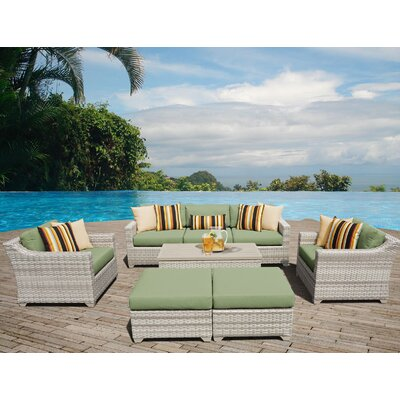 Fairmont Sectional Seating Group with Cushion Fabric: Cilantro