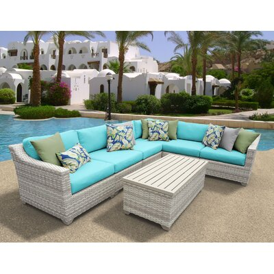 Fairmont 7 Piece Sectional Seating Group with Cushion Fabric: Aruba