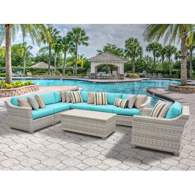 Fairmont 8 Piece Sectional Seating Group with Cushion Fabric: Aruba