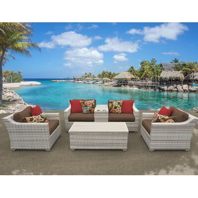 Fairmont 6 Piece Deep Seating Group with Cushion Fabric: Cocoa