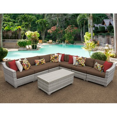 Fairmont 8 Piece Sectional Seating Group with Cushion Fabric: Cocoa