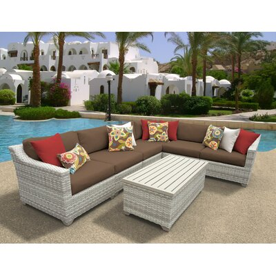 Fairmont 7 Piece Sectional Seating Group with Cushion Fabric: Cocoa
