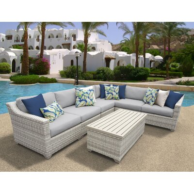 Fairmont 7 Piece Sectional Seating Group with Cushion Fabric: Gray