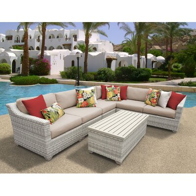 Fairmont 7 Piece Sectional Seating Group with Cushion Fabric: Wheat