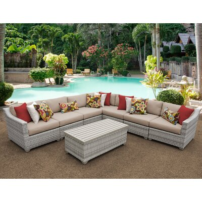 Fairmont 8 Piece Sectional Seating Group with Cushion Fabric: Wheat