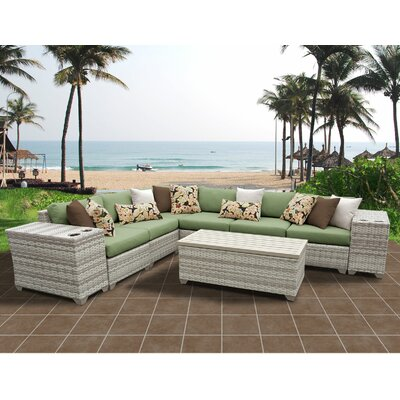 Fairmont 9 Piece Sectional Seating Group with Cushion Fabric: Cilantro