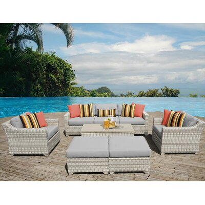 Fairmont Sectional Seating Group with Cushion Fabric: Gray