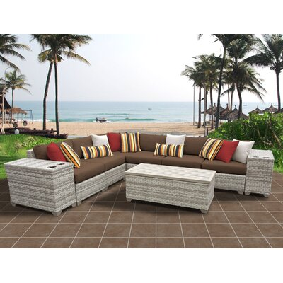 Fairmont 9 Piece Sectional Seating Group with Cushion Fabric: Cocoa