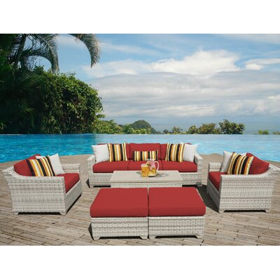 Fairmont Sectional Seating Group with Cushion Fabric: Terracotta