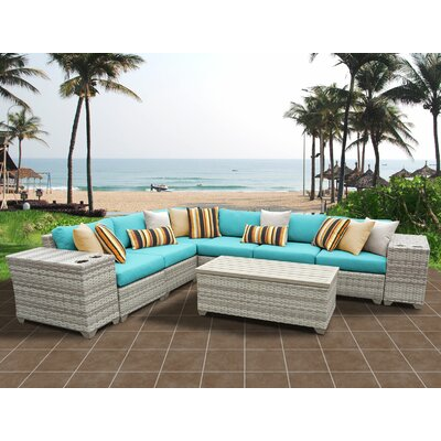 Fairmont 9 Piece Sectional Seating Group with Cushion Fabric: Aruba