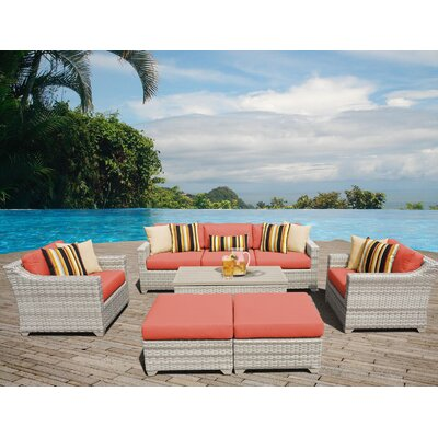 Fairmont Sectional Seating Group with Cushion Fabric: Tangerine