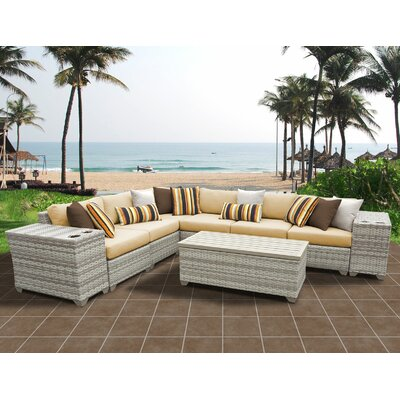 Fairmont 9 Piece Sectional Seating Group with Cushion Fabric: Sesame